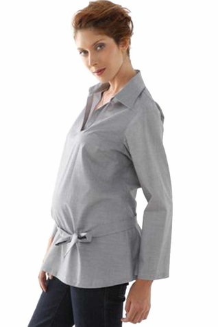 SOLD OUT L'Avenue des Bebes Anissa Knotted Maternity Shirt