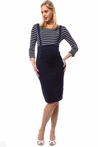 SOLD OUT L'Avenue des Bebes Astuce Maternity Skirt With Suspenders