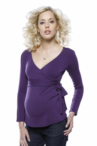 SOLD OUT L'Avenue des Bebes Loulou Maternity Knot Waist Top