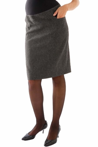 SOLD OUT L'Avenue des Bebes Maternity Pencil Skirt - Grey
