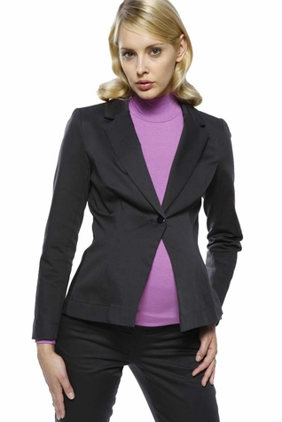 SOLD OUT L'Avenue des Bebes Single Breasted Sateen Maternity Suit Jacket - Black