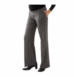 L'Avenue des Bebes Wide Leg Maternity Pants - Grey