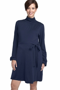 LA Made Jackson Turtleneck Maternity Dress