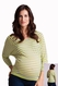 SOLDOUT LA Made Striped Cross Back Pullover Maternity Top