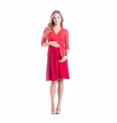 Lilac Abby Cross Front Maternity Nursing Dress