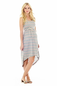 Lilac Avery Asymmetrical Hem Maternity Dress