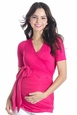 Lilac Bella Short Sleeve Maternity And Nursing Wrap Top