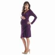 Lilac Brynley Maternity Faux Wrap Dress