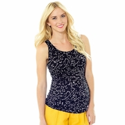 Lilac Dot Print Beater Maternity Tank Top