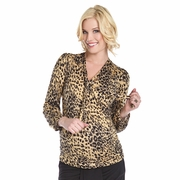 SOLD OUT Lilac Elise Cheetah Print Maternity Blouse