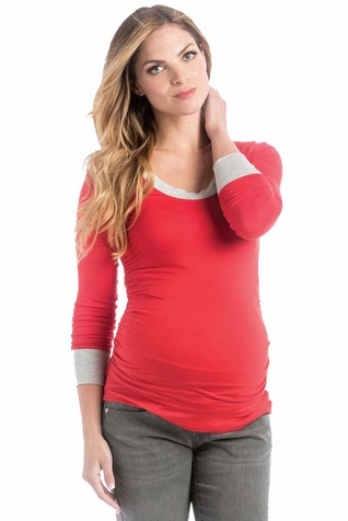 Lilac Hailey Long Sleeve Maternity Tee