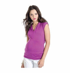 Lilac Judy Maternity V Neck Top