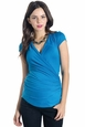 Lilac Karen Crossover Short Sleeve Maternity Nursing Top
