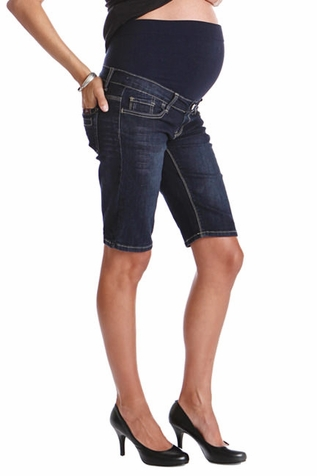 SOLD OUT Lilac Maternity Denim Bermuda Shorts