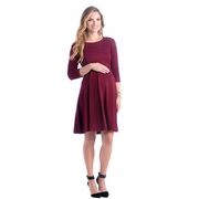 Lilac McCall Fit And Flare Maternity Dress