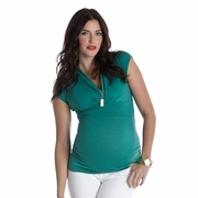 Lilac Megan Side Ruche Maternity And Nursing Top