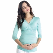 Lilac Michelle Maternity And Nursing Crossover Top