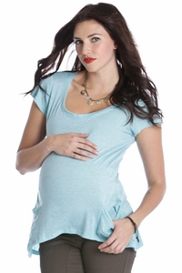 SOLD OUT Lilac Racerback  Melange Maternity Top