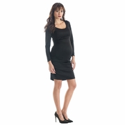 Lilac Shannon Long Sleeve Bodycon Maternity Dress