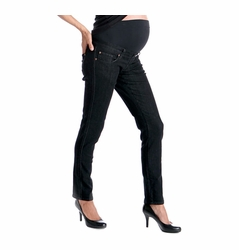 Lilac Skinny 5 Pocket Maternity Jeans - Black