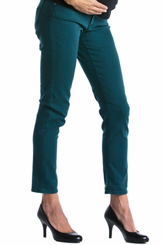 Lilac Skinny 5 Pocket Maternity Jeans - Teal