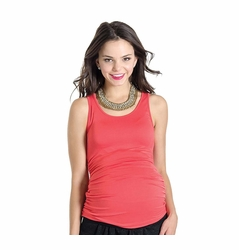 Lilac Solid Beater Maternity Tank Top