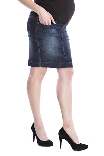 lilac stretch denim pencil skirt maternity clothes
