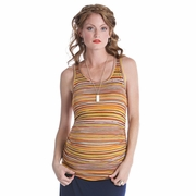 Lilac Striped Beater Maternity Tank Top