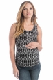 Lilac Print Beater Maternity Tank Top