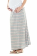 Lilac Striped Maternity Maxi Skirt