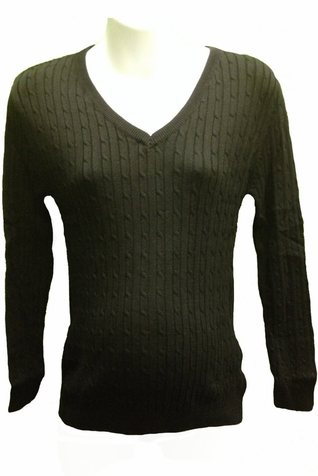 SOLD OUT Lilo Cable V-Neck Maternity Sweater