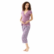 Majamas Lacey Cropped MJ  Maternity And Nursing Pajama Set