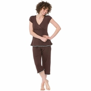 Majamas Lacey Cropped MJ Nursing Pajama Set