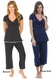Majamas Lacey Cropped MJ Maternity Nursing Pajama Set