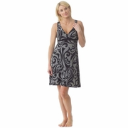 Majamas Nursing Nightgown - Grey Finial