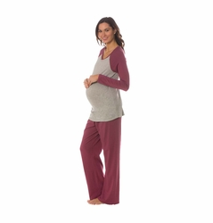 Majamas Pastime Maternity Nursing Lounge Pajama Set