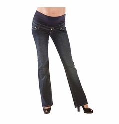 Mamablack Bootleg Celebrity Maternity Jeans - Dark Wash