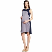 Maternal America Arched Yoke Maternity Dress