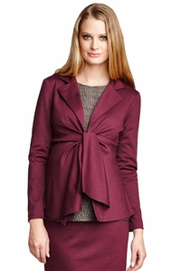 SOLD OUT Maternal America Audrey Long Sleeve Front Tie Blazer