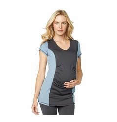 Maternal America Belly Pleat Active Maternity Top