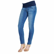 Maternal America Belly Support Skinny Ankle Denim Jeans