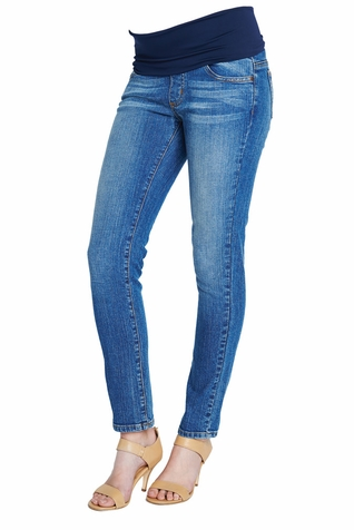 SOLD OUT Maternal America Belly Support Skinny Ankle Denim Jeans