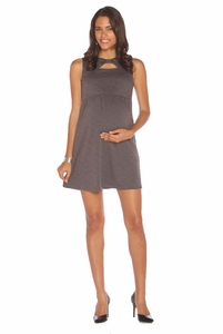 Maternal America Bow Detail Maternity Shift Dress