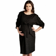 Maternal America Button Sleeved Maternity Dress