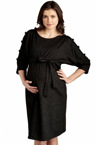 SOLD OUT Maternal America Button Sleeved Maternity Dress