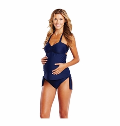 SOLD OUT Maternal America Carrie Two Piece Bow Maternity Tankini