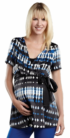 SOLD OUT Maternal America Charmeuse Maternity And Nursing Top