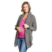 Maternal America Chunky Long Cardigan Maternity Sweater