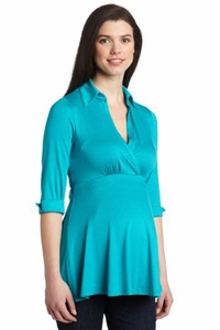 Maternal America Classic Front Tie Maternity Top