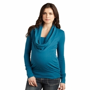 Maternal America Cowl Neck Maternity Sweater